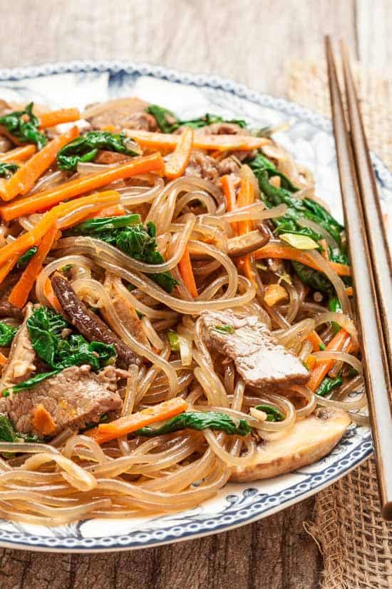 Jap Chae (Korean Stir Fry Noodles) - gluten free meals