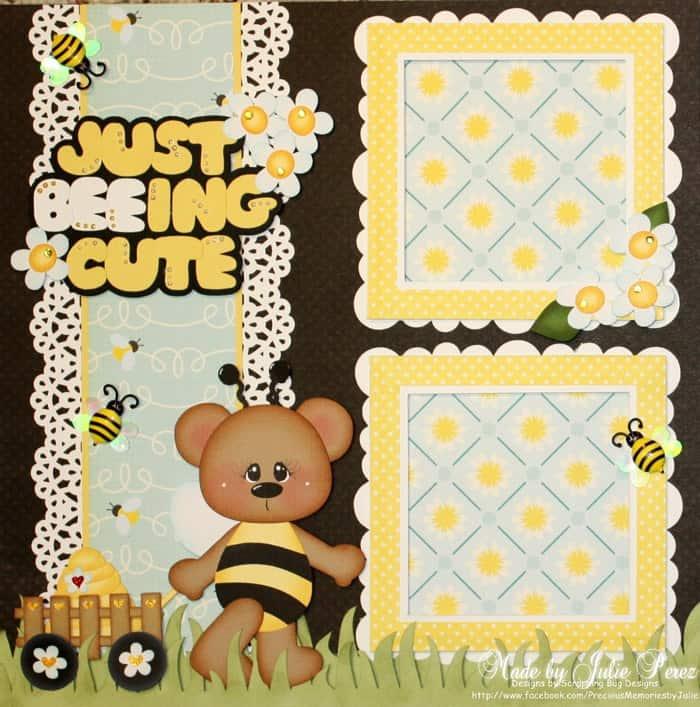 Just Beeing Cute - scrapbook templates