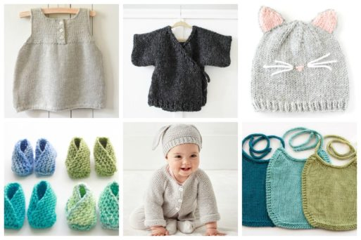 This list of adorable knitting patterns for babies showcases modern knitting patterns perfect for knitters of every level - and the babies they love!