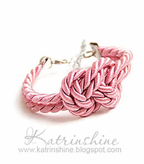 Knotted Cord Bracelet - celtic knot