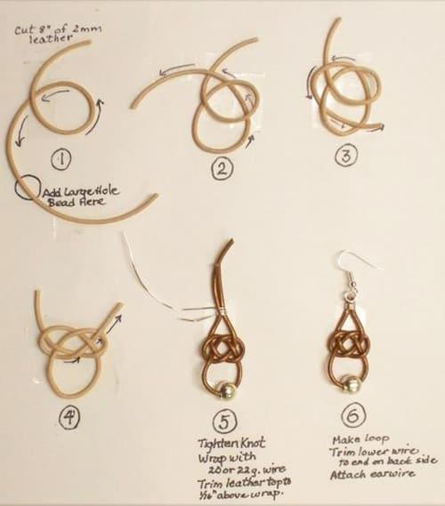 Leather Celtic Knot Earrings - celtic knot