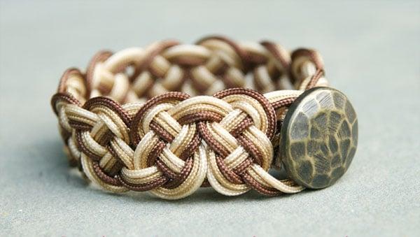 Ombre Knotted Bracelet - celtic knot