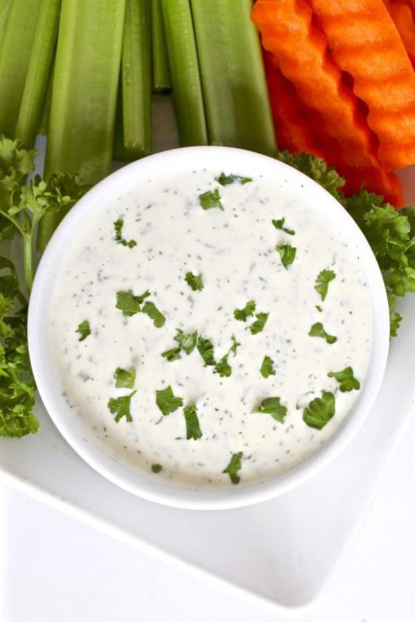 Paleo Ranch Dressing - paleo salad dressings