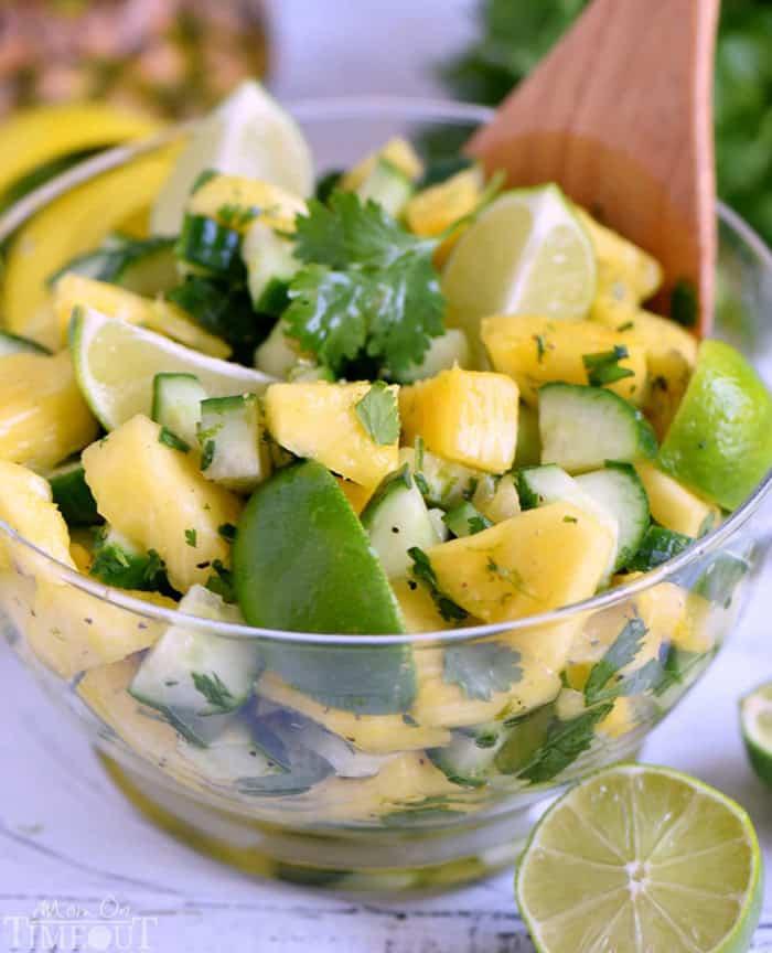 Pineapple Cucumber Salad - gluten free meals