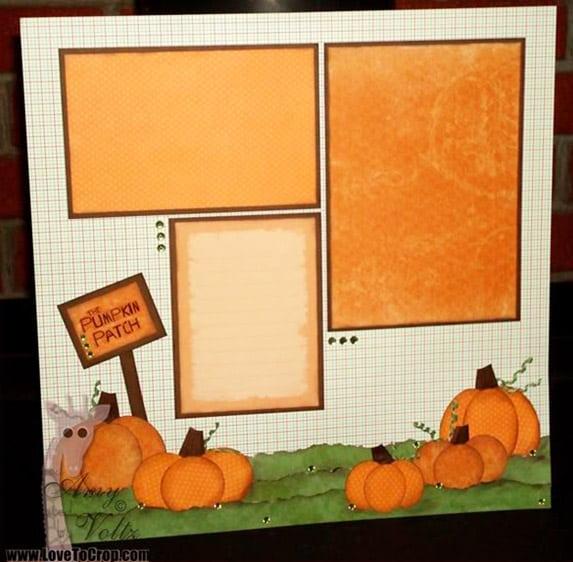 Pumpkin Patch - scrapbook templates