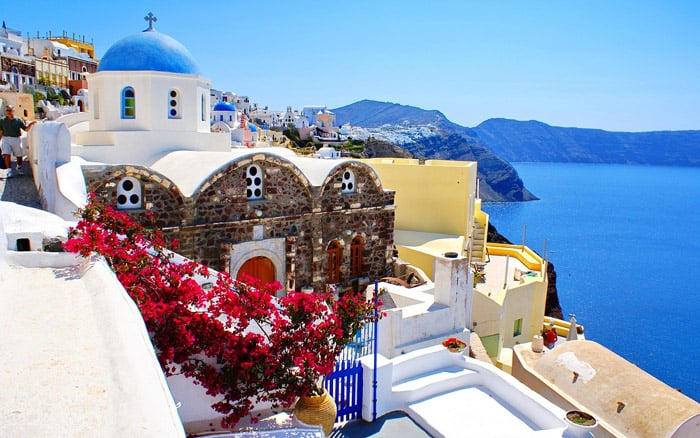 Island Travel Sea Santorini Summer Europe Greece