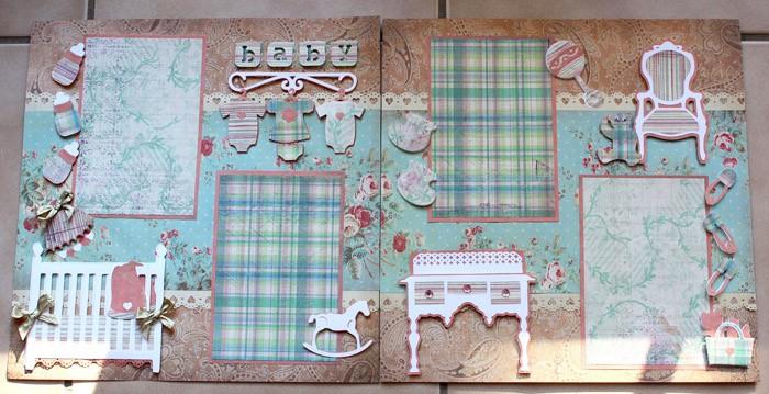 Shabby Chic Nursery - scrapbook templates