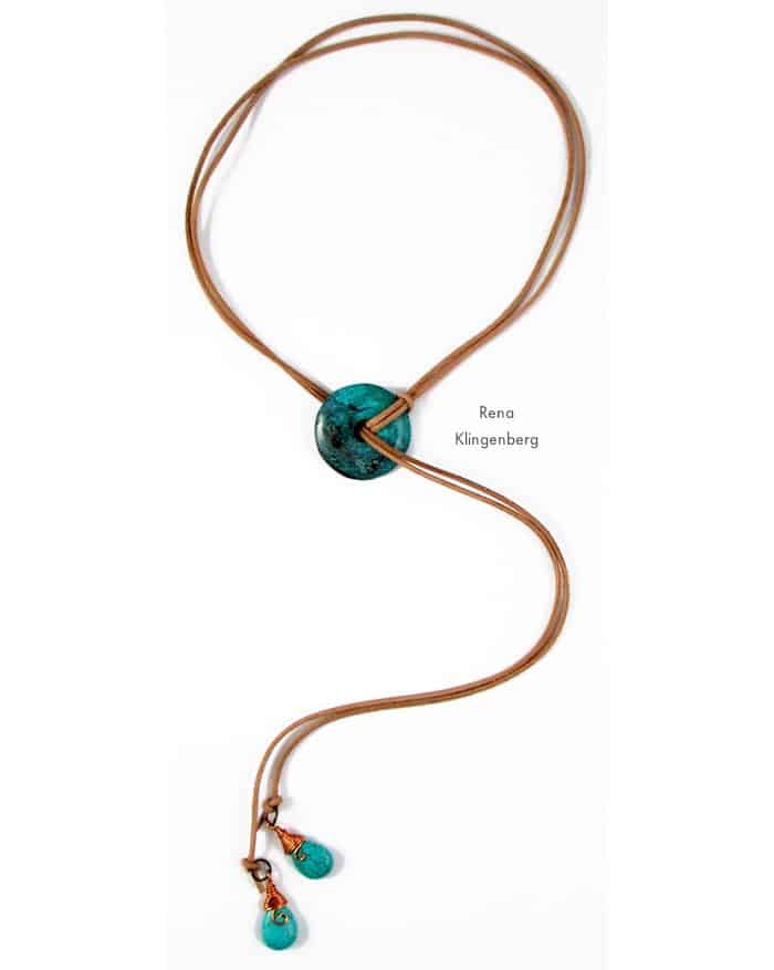 Southwestern Lariat Necklace - beginner jewelry projects