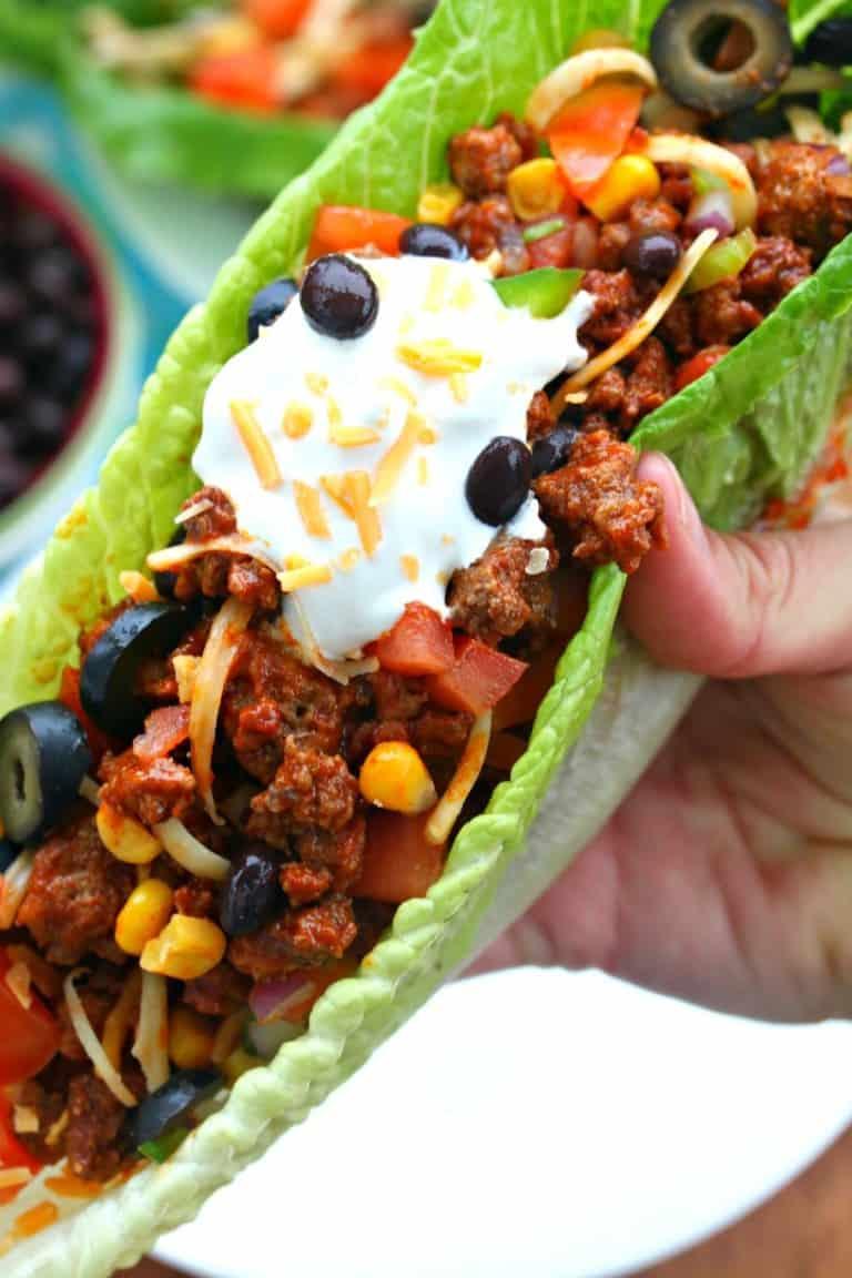 Turkey Taco Lettuce Wraps - gluten free meals