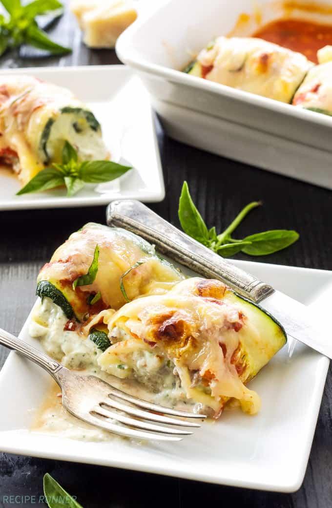 Zucchini Lasagna Rolls - gluten free meals