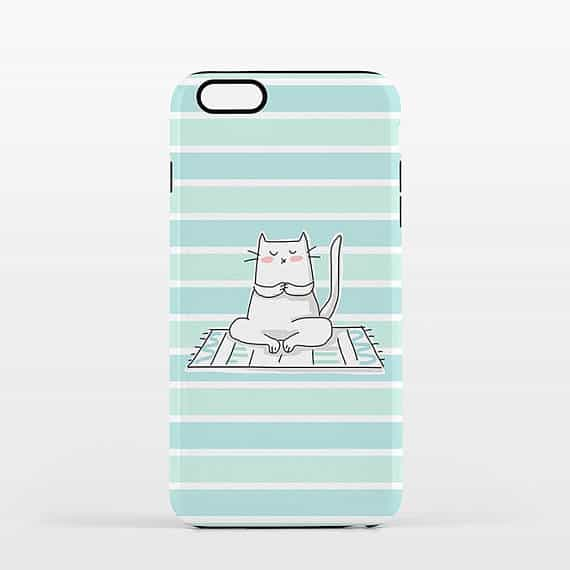 cat phone case - yoga gifts