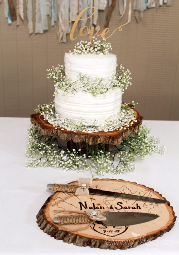 Affordable Rustic Wedding Cake - wedding cake decorating ideas