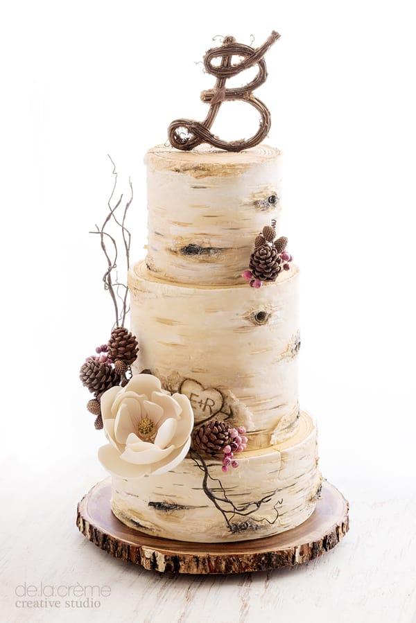 Birch Tree Wedding Cake - wedding cake decorating ideas