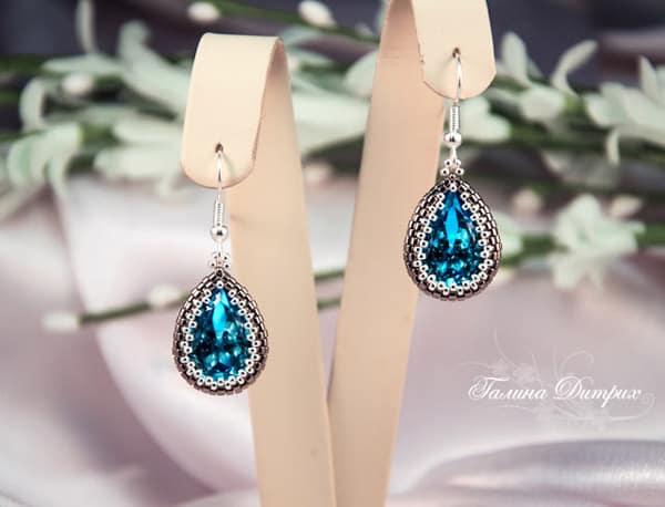 Braided Swarovski Drop Earrings - jewelry ideas