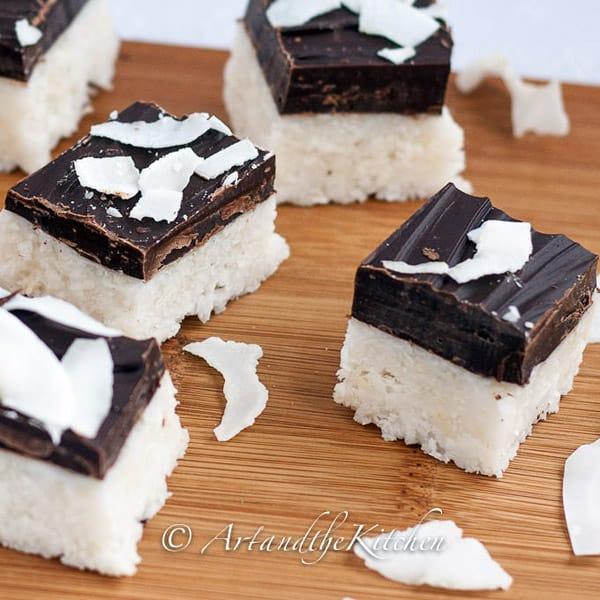 Chocolate Covered Coconut Bars - gluten-free desserts