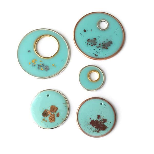 Colorized Resin in Open Hoops Pendants - jewelry ideas