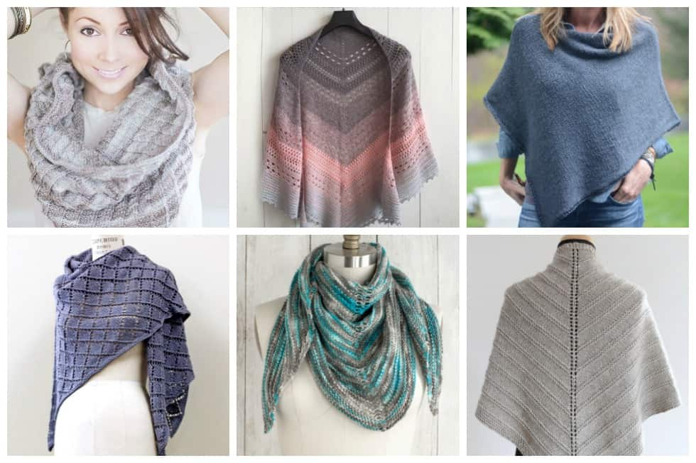 Knitting Patterns For Ponchos And Shawls : Free shawl and poncho knitting patterns ideal me
