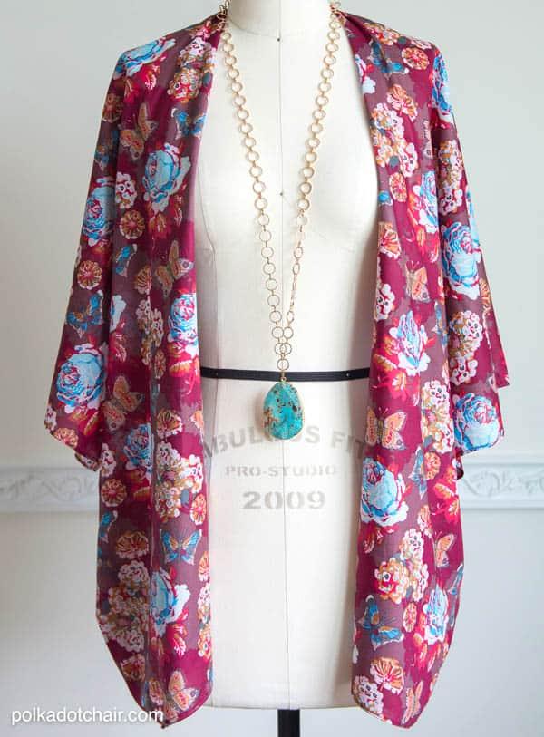 Kimono Jacket - how to sew clothes