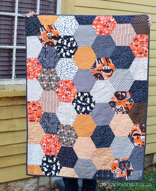 Large Hexagon Quilt - country quilts