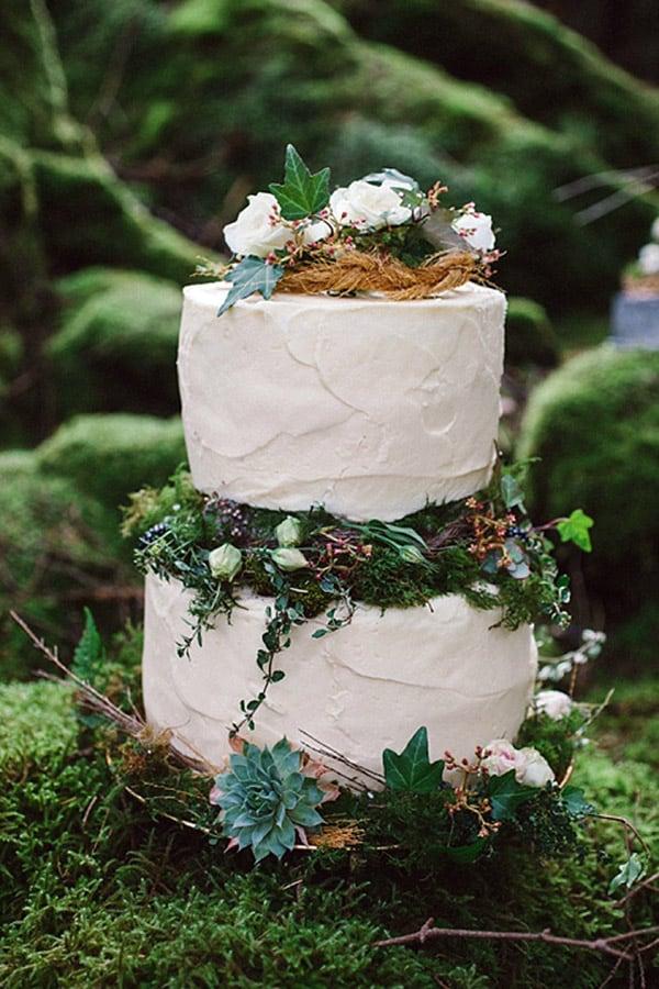 Magical Irish Woodland Wedding Cake - wedding cake decorating ideas