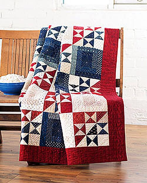 Ohio Star Quilt of Valor - country quilts