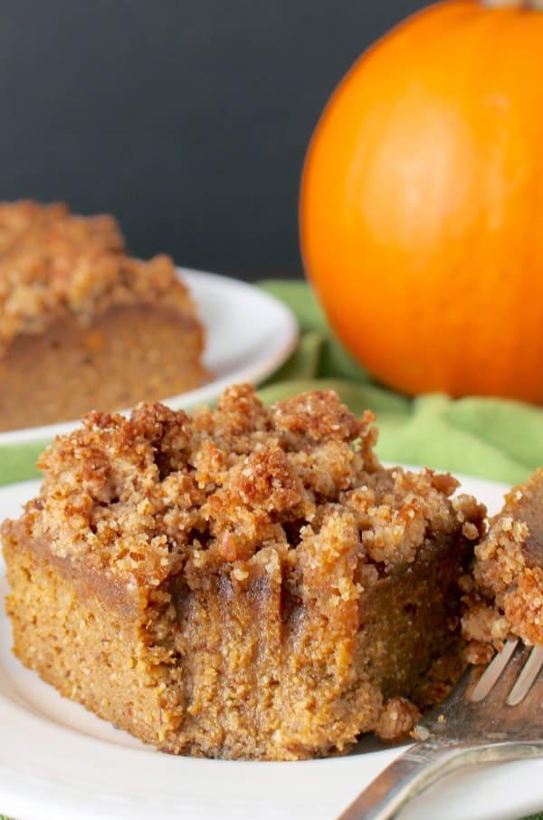 Paleo Pumpkin Coffee Cake - gluten-free desserts
