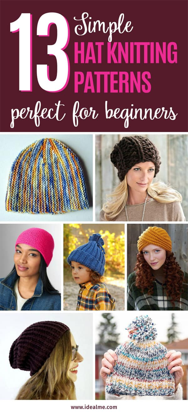 13 hat knitting patterns