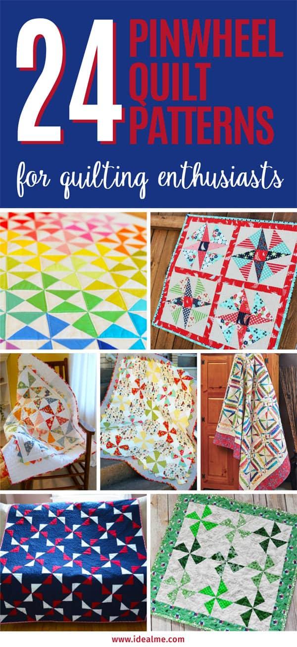 24 pinwheel quilt patterns