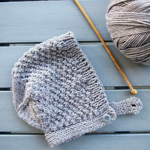 Baby Bonnet Hat - hat knitting patterns
