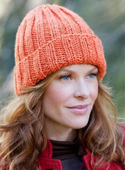 Beginner's Favorite Knitted Hat - hat knitting patterns