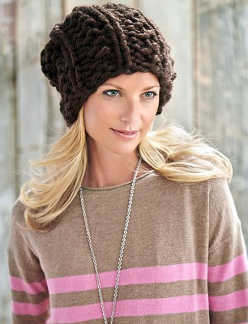Big Textures Hat - hat knitting patterns