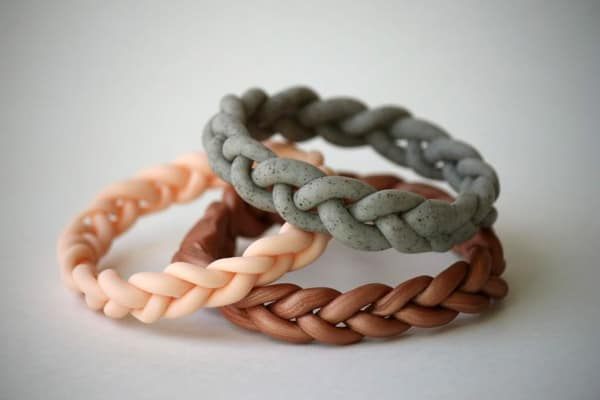 Braided Clay Bracelet - easy DIY bracelets