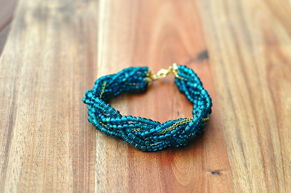 Braided Four Strand Bracelet - easy DIY bracelets