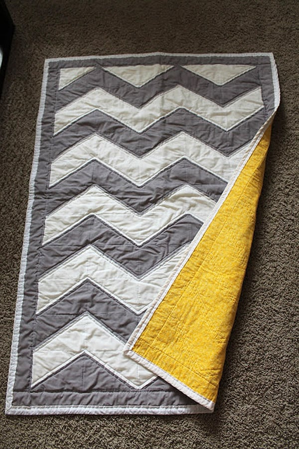 Chevron Baby Quilt - cheveron quilt patterns