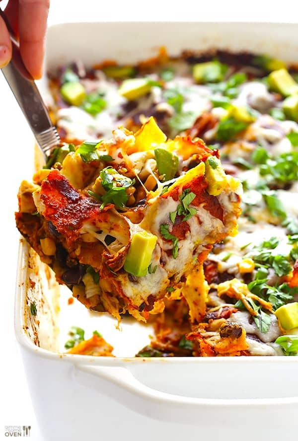 Chicken Enchilada Casserole - gluten-free casseroles