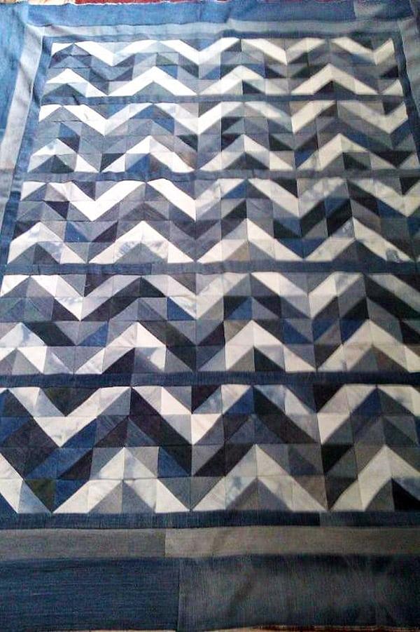 Chunky Chevron Jean Quilt - chevron quilt patterns