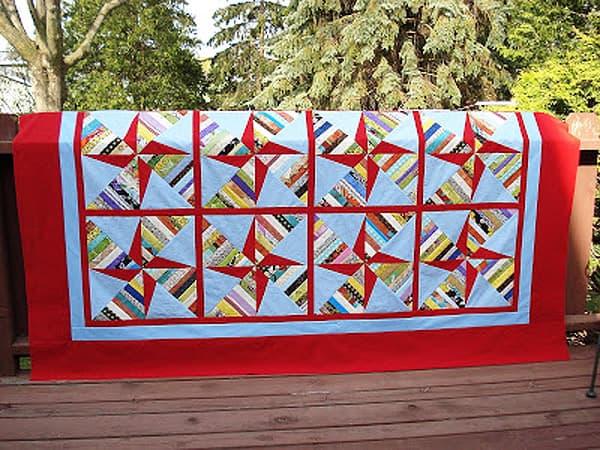 Double Pinwheel String Quilt - pinwheel quilt patterns