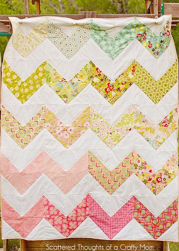 Easy Chevron Quilt - cheveron quilt patterns