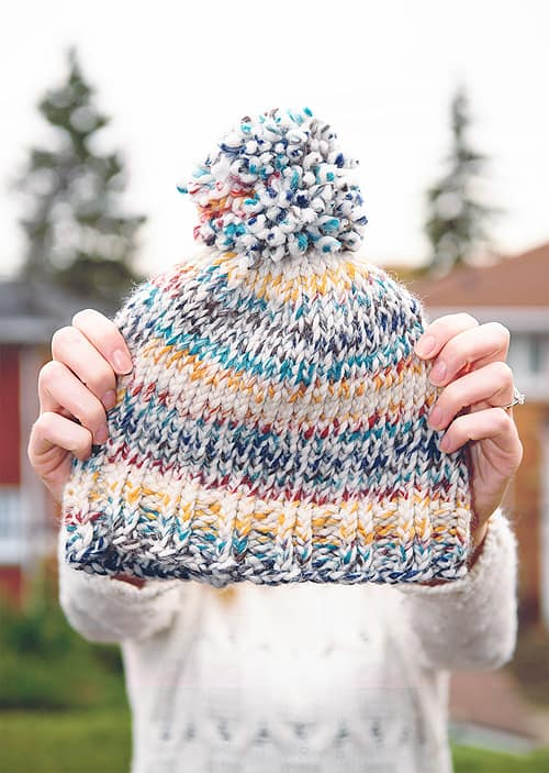 Easy Knit Toque - hat knitting patterns