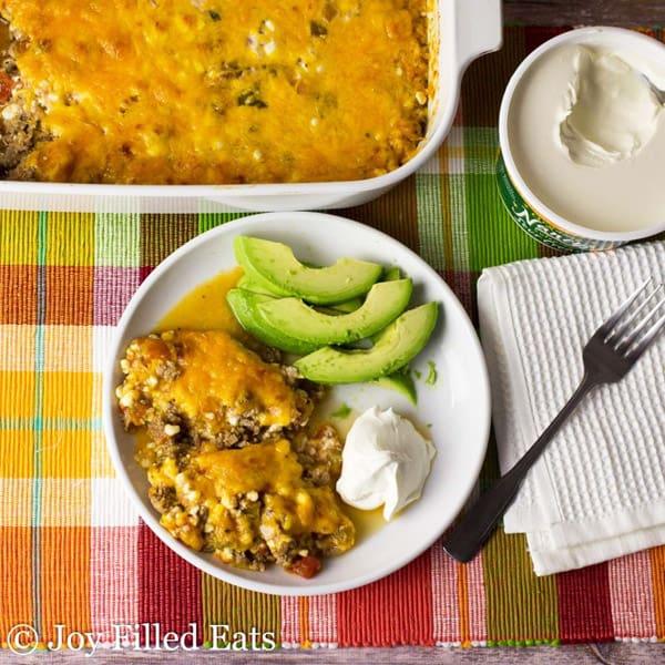 Easy Mexican Taco Casserole - gluten-free casseroles