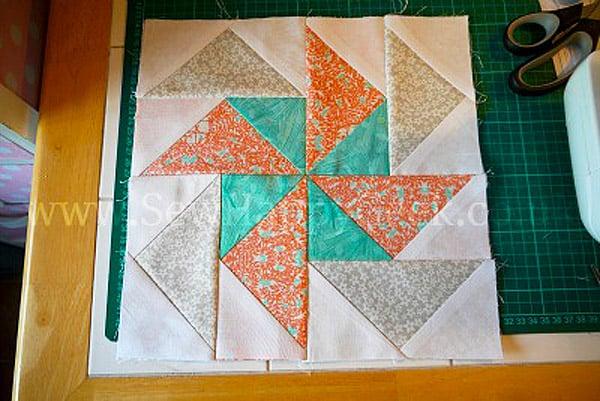Flying Geese Pinwheel Block - pinwheel quilt patterns