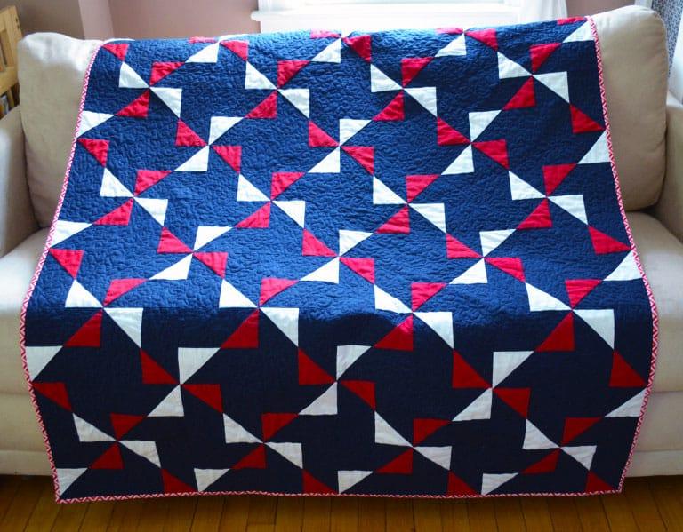 Fourth of July Pinwheel Quilt - pinwheel quilt patterns