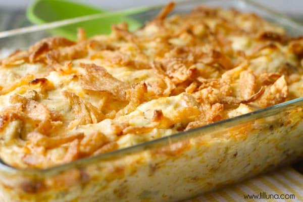 French Onion Chicken Casserole - gluten-free casseroles