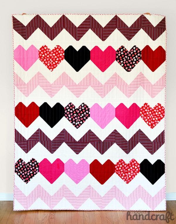 I Heart Chevrons - chevron quilt patterns