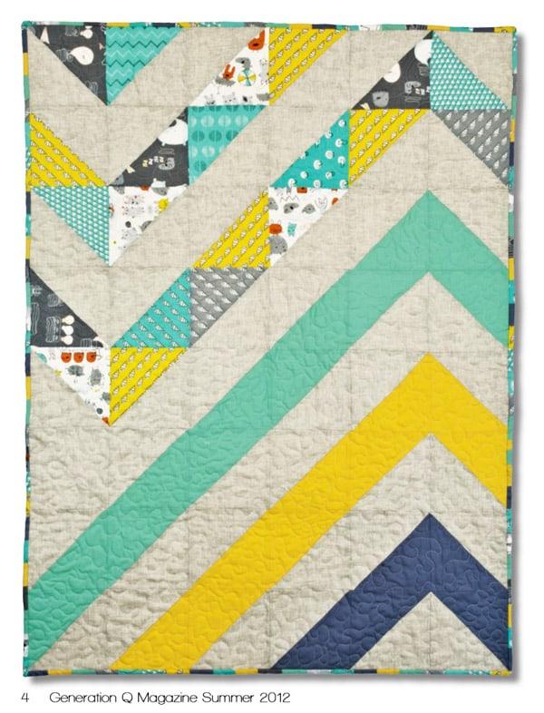 Mod Chevron Baby Quilt - cheveron quilt patterns