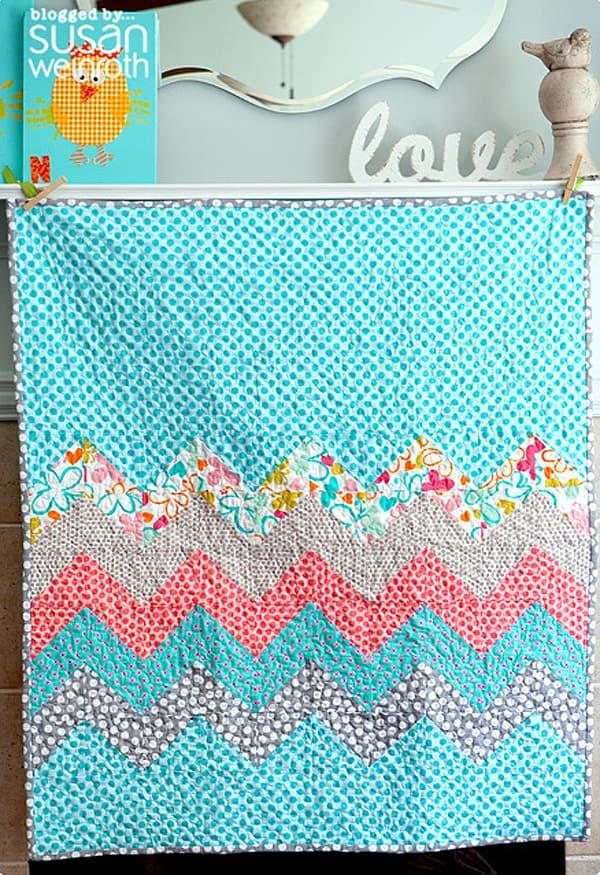 Modified Zig-Zag Quilt - cheveron quilt patterns