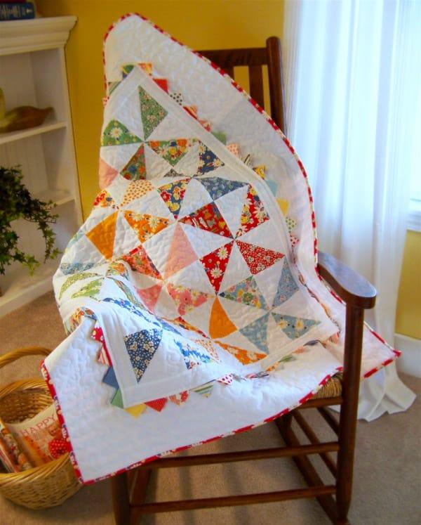 Pinwheel Baby Quilt - pinwheel quilt patterns