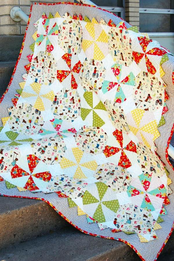 Prairie Pinwheel Baby Quilt - pinwheel quilt patterns
