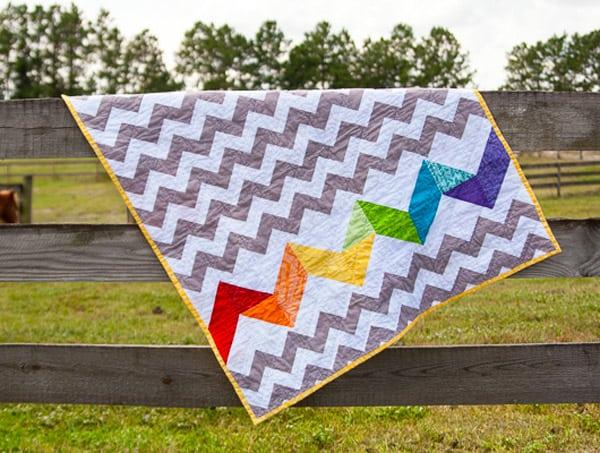 Rainbow Baby Quilt - chevron quilt patterns