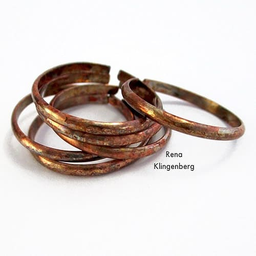 Rustic Adjustable Stacking Rings - simple diy rings